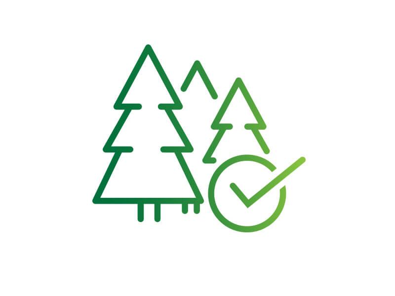 Timber chain of custody icon