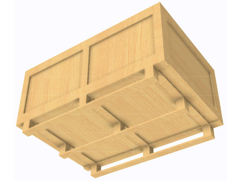 Wooden crate from below